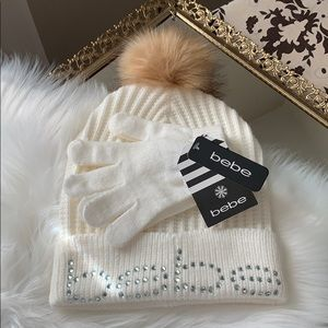 bebe | Winter Hat & Glove Set